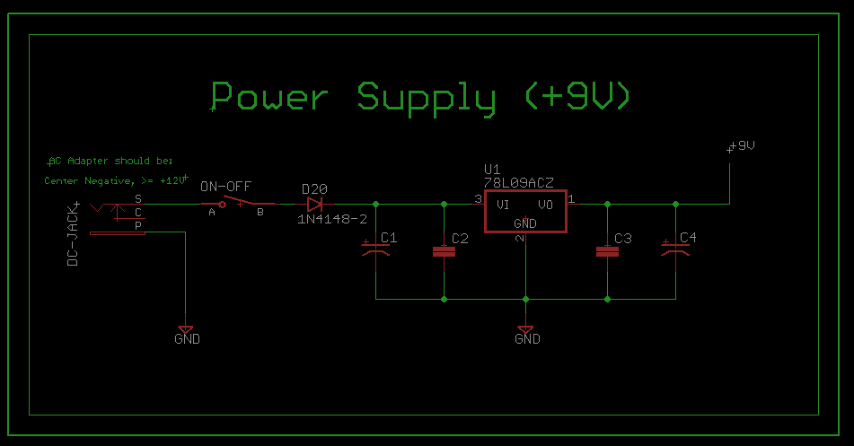 Step Sequencer 9 Volts Power Supply