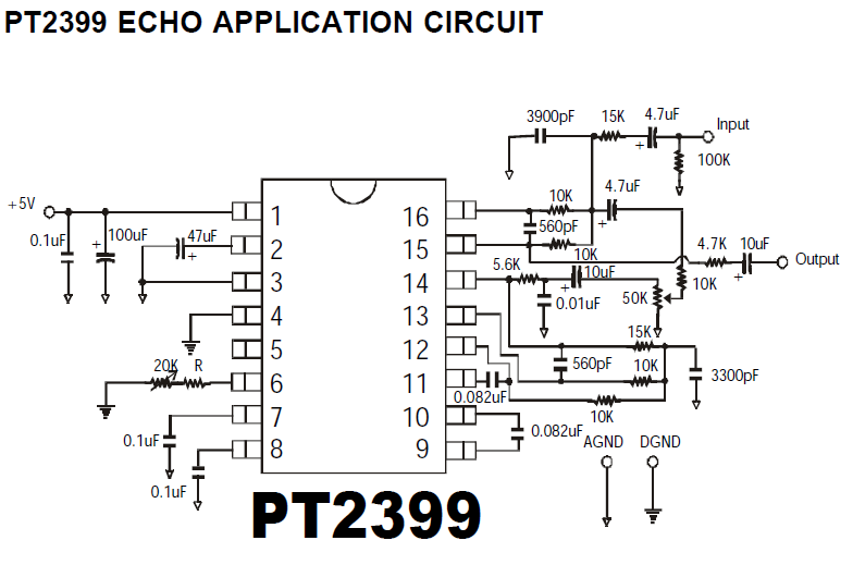Pt2399 Echo Application Circuit on knight rider circuit diagram