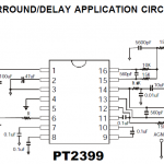 PT2399 Surround Delay Application Circuit