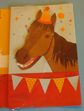 Hallmark Innovations Voice Recorder Card - Horse mouth closed