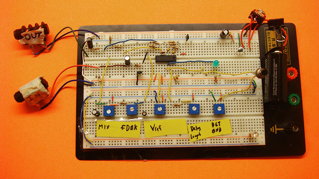 pt2399 echo processor breadboard schematic
