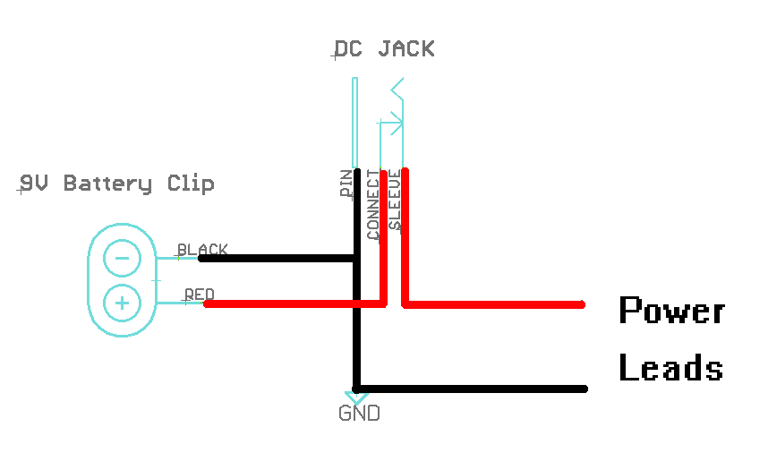 dc barrel power jack connector schematic