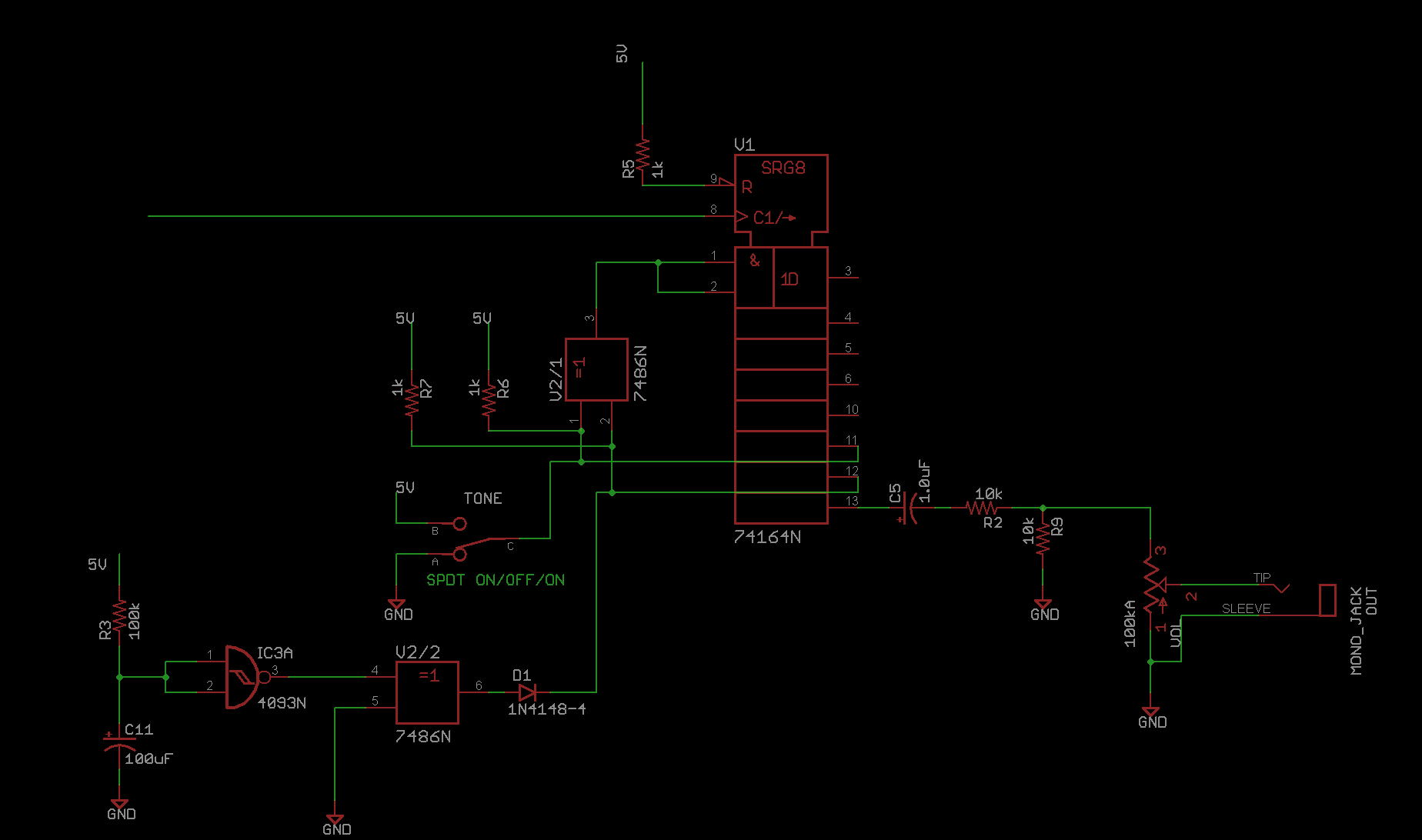 Atari Punk Junk Console Diy Audio Circuits Digital Voice Record And Playback Circuit Schematic The Main Noise Generator For Our Basic At Play Here Is A Linear Feedback Shift Register Lfsr Test Widely Used In